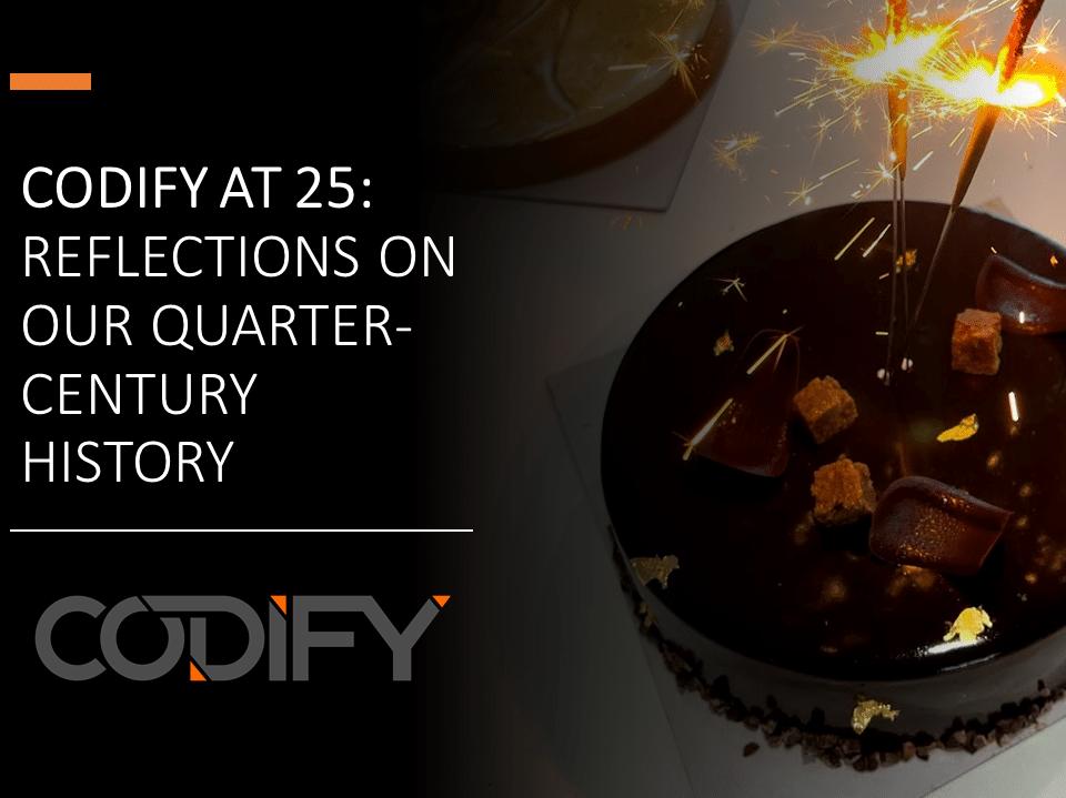 Codify turns 25 years old